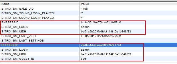Битрикс сессия истекла коды свойств битрикс